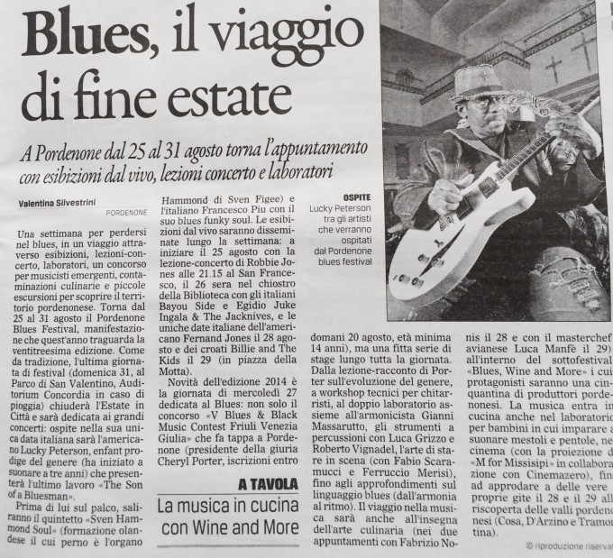 Il Gazzettino, 19 agosto 2014