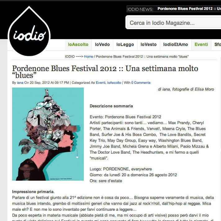 """Pordenone Blues Festival 2012 :: Una settimana molto """"blues"""""""
