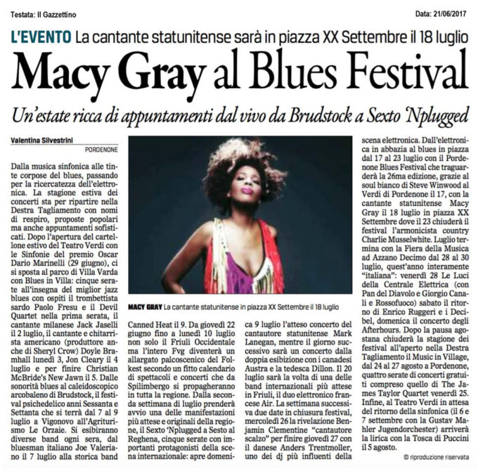 Macy Gray al Blues Festival