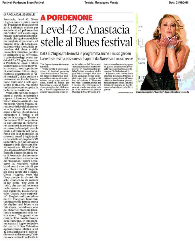 Articolo sul Messaggero Veneto - Pordenone