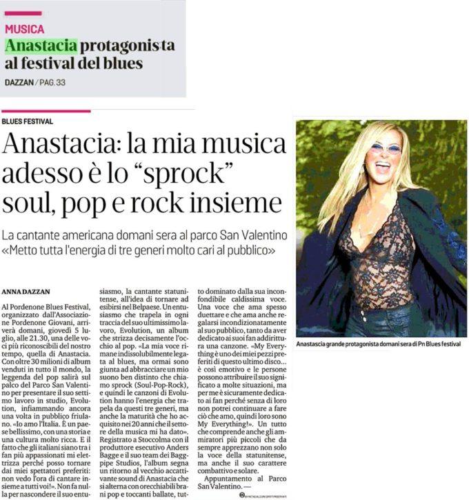 Messaggero Veneto: Anastacia