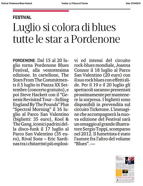 Articolo La Tribuna di Treviso