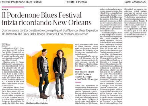 Articolo sul Pordenone Blues Festival 2020