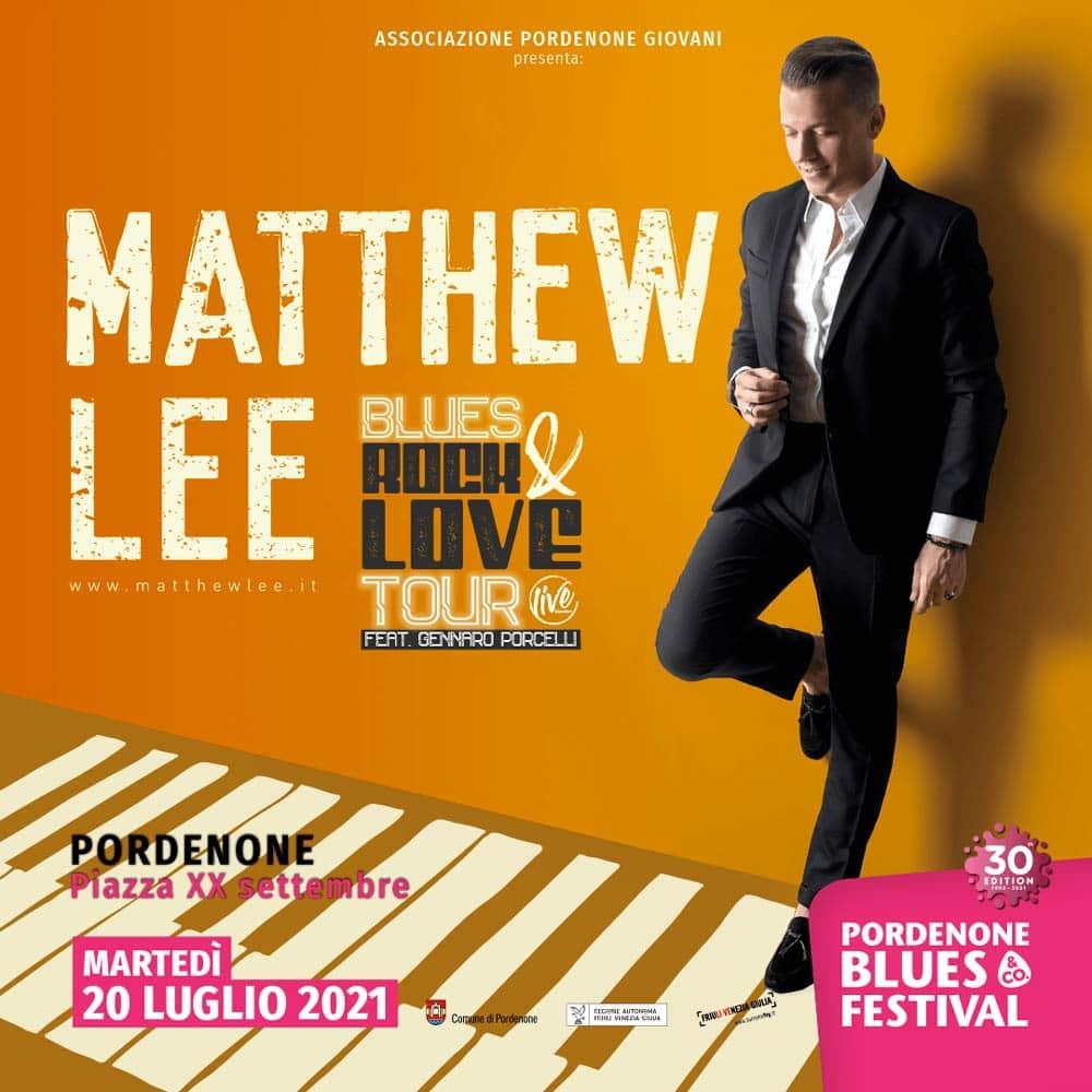 Matthew Lee al Pordenone Blues Festival